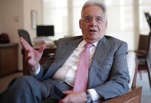 O ex-presidente Fernando Henrique Cardoso Foto: Marcos Alves / Marcos Alves/O Globo