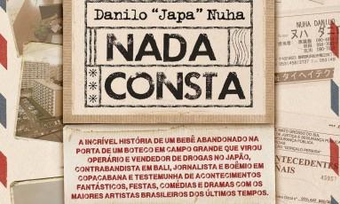 """Capa de """"Nada consta"""", de Danilo """"Japa"""" Nuha Foto: Divulgação / Agência O GLOBO"""