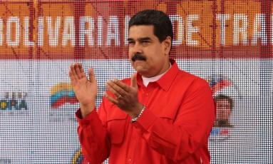 Nicolás Maduro. Países da OEA pedem respeito à democracia na Venezuela Foto: HANDOUT / REUTERS