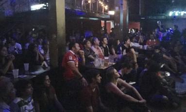 Chilenos assistem ao jogo em Buenos Aires Foto: Janaina Figueiredo