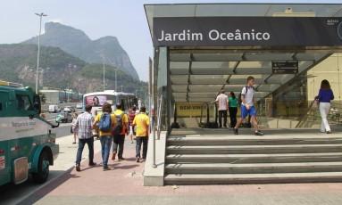 Estação Jardim Oceânico, na Barra: viagem mais curta até a Tijuca Foto: Fábio Guimarães / Agência O Globo
