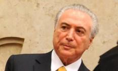 O presidente Michel Temer durante a posse do ministro Alexandre de Moraes, no STF Foto: Ruy Baron / Valor/O Globo