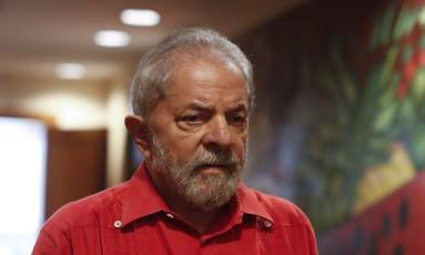 Lula criticou integrantes da força-tarefa da Lava-Jato durante seminário do PT Foto: Edilson Dantas / Agência O Globo