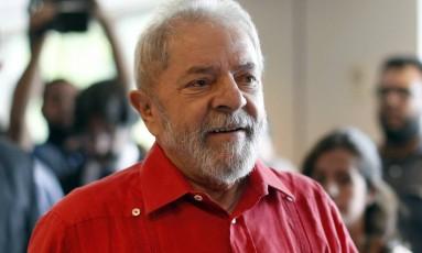 O ex-presidente Lula Foto: Edilson Dantas / Agência O Globo