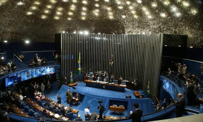 BRASIL - Brasília - BSB - PA - 22/02/2017 - PA - Plenário do Senado aprova o nome de Alexandre de Moraes para ministro do Supremo Tribunal Federal. Foto de Jorge William /Agência O Globo Foto: Jorge William / Agência O Globo