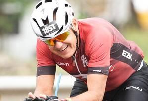 Desafio . Marcos Maia na prova Ironman Internacional de Floripa Foto: Arquivo pessoal
