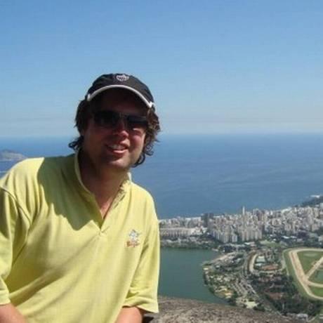 Turista tcheco Vilem Hanus, de 34 anos, que está desaparecido em Ilha Grande Foto: Reprodução