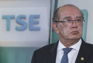 O presidente do Tribunal Superior Eleitoral (TSE), ministro Gilmar Mendes Foto: Divulgação 24/03/2017