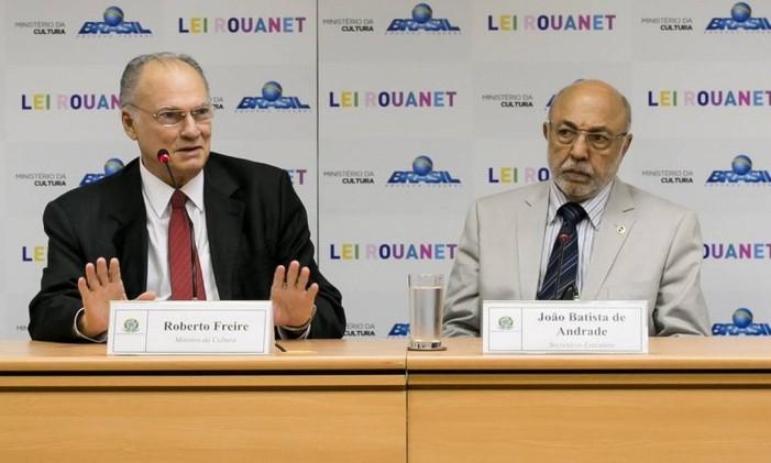 Roberto Freire e João Batista de Andrade Foto: Divulgação