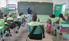 Na sala de aula Foto: Agência O Globo / Agência O Globo