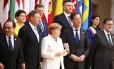 Líderes de nações europeias, incluindo França, Alemanha e Espanha, assinaram uma declaração de compromisso com o Tratado de Roma, de 1957 Foto: TONY GENTILE / REUTERS