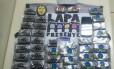 Alguns dos doces feitos com a droga apreendidos pela polícia Foto: Divulgação/PMERJ