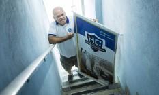 Marcos de Jesus, integrante do Ministério Homens Corajosos: fundado em 2015 no Rio, grupo apresenta palestras em diversas igrejas evangélicas Foto: Fernando Lemos / Agência O Globo