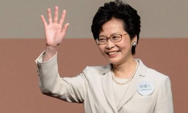 Carrie Lam, a nova chefe do Executivo de Hong Kong Foto: ANTHONY WALLACE / AFP
