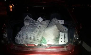 Aves estavam em pequenas caixas no porta-malas do carro Foto: Divulgação / PRF