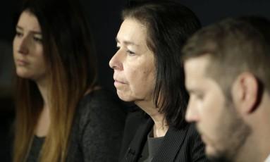 Imagem de arquivo mostra Christine Levinson, esposa de Robert Levinson Foto: Seth Wenig / AP