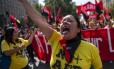Chilenos foram às ruas contra as Administradoras de Fundos de Pensão Foto: MARTIN BERNETTI / AFP