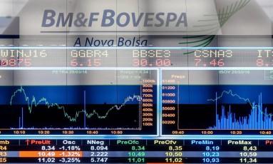 Sede da Bovespa no centro de São Paulo. Foto Pedro Kirilos / Agência O Globo