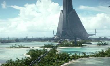 O planeta Scarif, de 'Rogue One' Foto: Reprodução