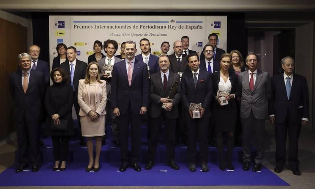 Repórter do GLOBO recebe Prêmio Rei da Espanha de Jornalismo