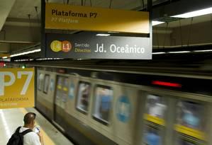 Linhas 1 e 4 não têm mais baldeação na Estação General Osório, em Ipanema Foto: Leo Martins / Agência O Globo
