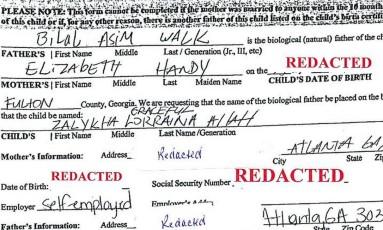 Pedido de registro feito pelos pais de Zalykah Graceful Lorraina Allah recusado Foto: Reprodução / Superior Court of Fulton County