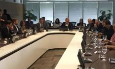 A reunião entre Pezão e representantes da Polícia Civil Foto: Divulgação