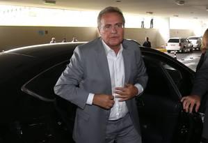 O líder do PMDB no Senado, Renan Calheiros (PMDB-AL) Foto: Ailton de Freitas / Agência O Globo