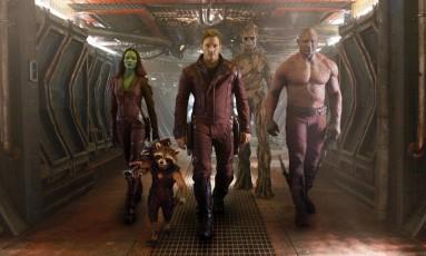 O elenco de 'Guardiões da Galáxia' Foto: Divulgação