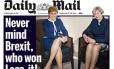 """Capa do jornal """"Daily Mail"""" com o trocadilho polêmico: """"esqueça o Brexit, quem ganhou legs-it (pernas + isso, também usado como gíria que indica """"corrida"""" ou """"abandona"""")!"""" Foto: Reprodução / Daily Mail"""