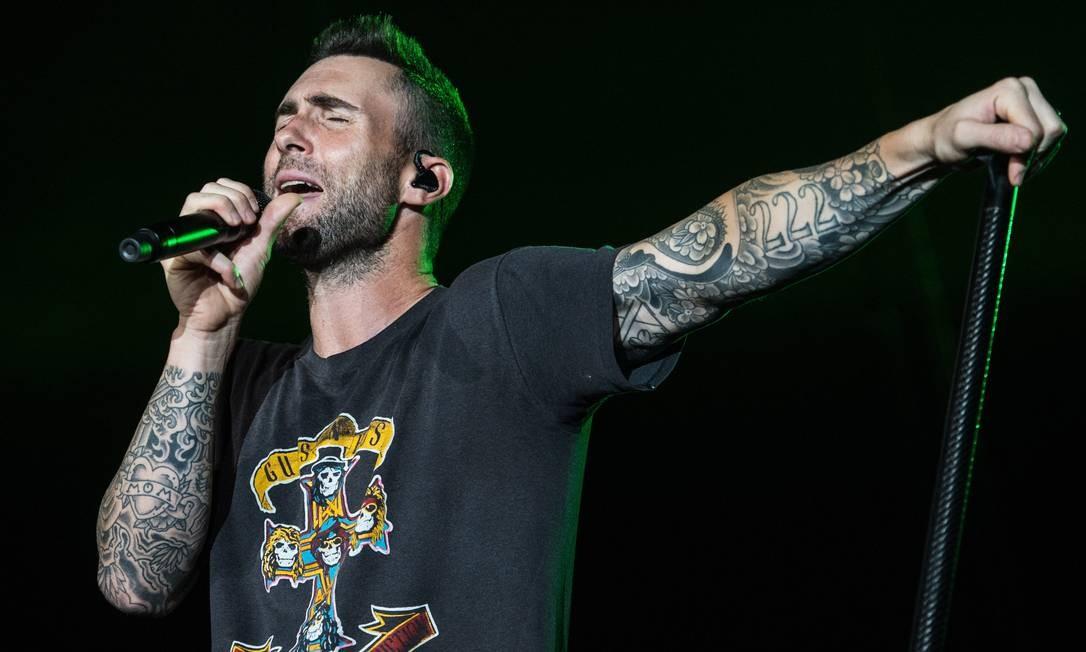 Adam Levine, vocalista do Maroon 5: banda é uma das atrações do festival Foto: Evgenya Novozhenina / Sputnik