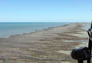 Manguezal com 7.400 hectares morreu no Golfo de Carpentária, na Austrália Foto: AFP / NORMAN DUKE