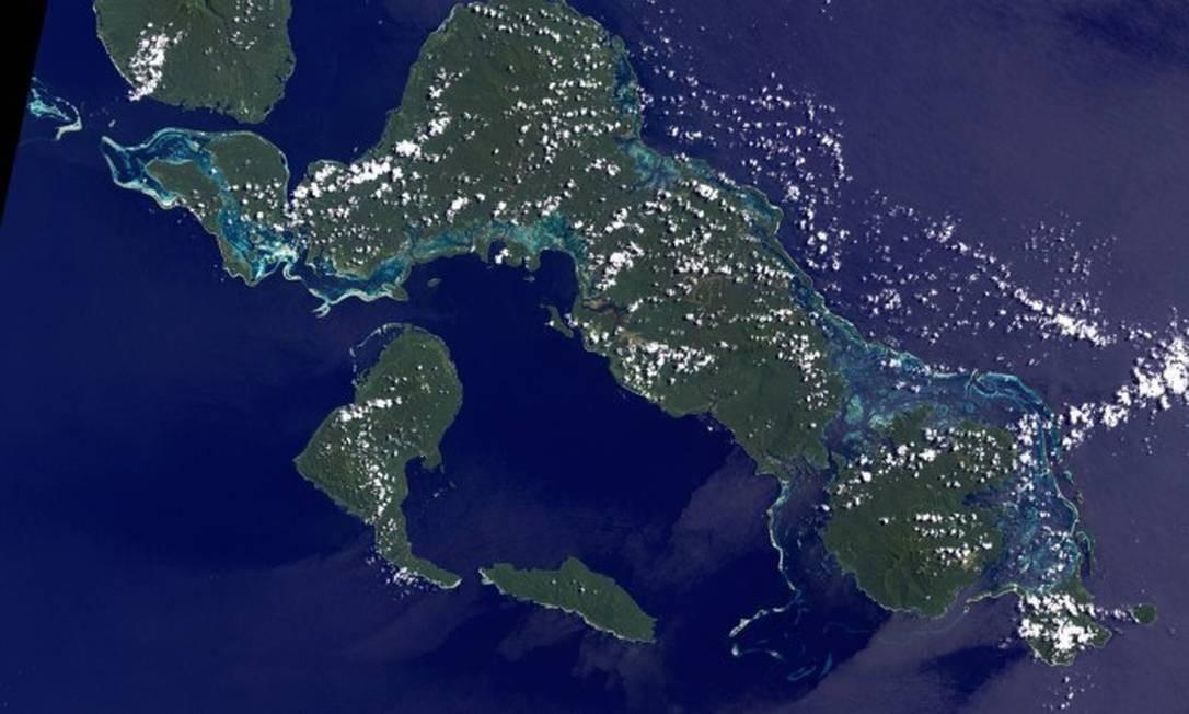A elevação dos níveis dos mares também já provocou o desaparecimento de ao menos cinco ilhas nas Ilhas Salomão, país no Oceano Pacífico considerado um dos mais ameaçados pelas alterações climáticas no planeta Foto: REPRODUÇÃO