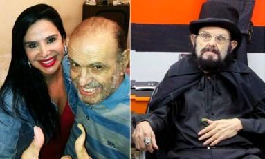 Intérprete de Zé Do Caixão, José Mojica Marins, e a filha Liz Marins Foto: Reprodução/Facebook