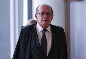 O ministro do STF e presidente Tribunal Superior Eleitoral (TSE), Gilmar Mendes Foto: Andre Coelho / O Globo - 23/03/2017