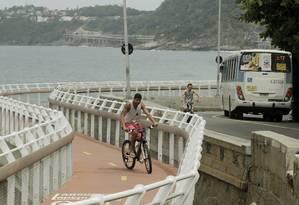 Trecho da Ciclovia Tim Maia Foto: Gabriel de Paiva / Agência