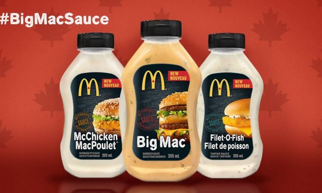 McDonald's venderá molhos do McChicken, McFish e Big Mac
