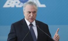 O presidente Michel Temer atendeu aos pedidos de urgência de Picciani para socorro financeiro ao Rio Foto: Ailton Freitas / O Globo