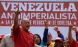 Resposta nas ruas. Diosdado Cabello comanda marcha contra convocação extraordinária na OEA Foto: FEDERICO PARRA/AFP