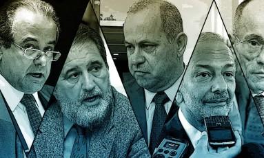 Conselheiros do Tribunal de Contas do Estado do Rio são alvos Foto: Montagem/Arte O GLOBO