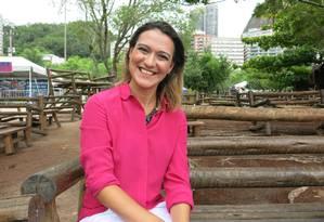 Camila Vilanova trabalha há uma década como personal trainer Foto: Gabriel Menezes