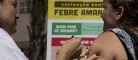 Campanha de vacinação contra a febre amarela no Centro Municipal de Saúde Dom Hélder Câmara, em Botafogo Foto: Márcia Foletto / Agência O Globo