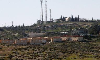 Assentamentos israelenses no Sul de Yatta, na Palestina Foto: HAZEM BADER / AFP
