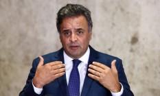 Aécio Neves planeja discutir avanço na reforma política Foto: Givaldo Barbosa / Agência O Globo