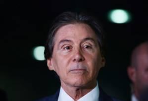 Reunião ocorreu na casa do presidente do Senado, Eunício Oliveira Foto: Givaldo Barbosa / O Globo