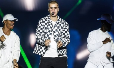 Justin Bieber em show na Apoteose Foto: Bárbara Lopes/Agência O Globo