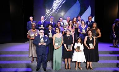 Os vencedores do Prêmio Faz Diferença Foto: Pablo Jacob / Agência O Globo