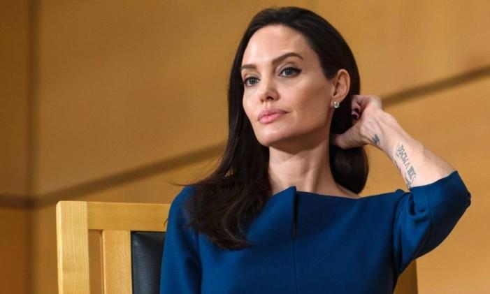 Angelina Jolie em março de 2017 Foto: FABRICE COFFRINI / AFP