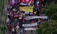 Protestos ocupam pontos diferentes da cidade de São Paulo Foto: Reprodução/TV Globo