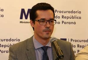 O procurador da República e coordenador da força-tarefa da Lava-Jato, Deltan Dallagnol Foto: Geraldo Bubniak / Agência O Globo